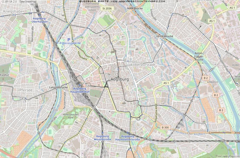 Karte Augsburg.Karte Von Augsburg Deutschland Breiten Und Langengrad