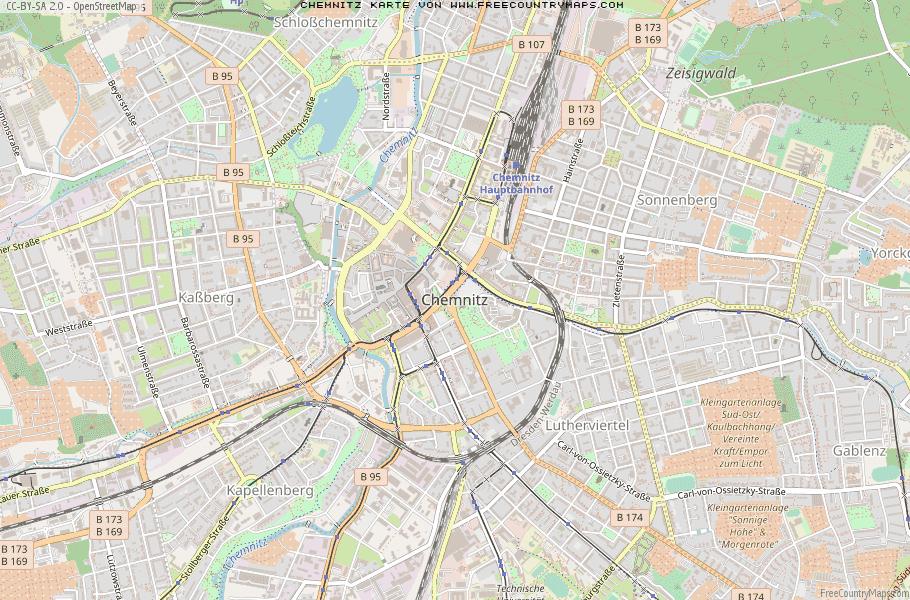 Chemnitz Karte.Karte Von Chemnitz Deutschland Breiten Und Langengrad