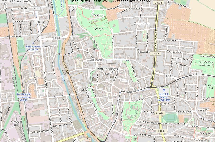 Nordhausen Karte.Karte Von Nordhausen Deutschland Breiten Und Längengrad