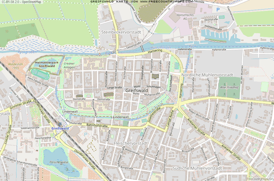 Greifswald Karte.Karte Von Greifswald Deutschland Breiten Und Längengrad