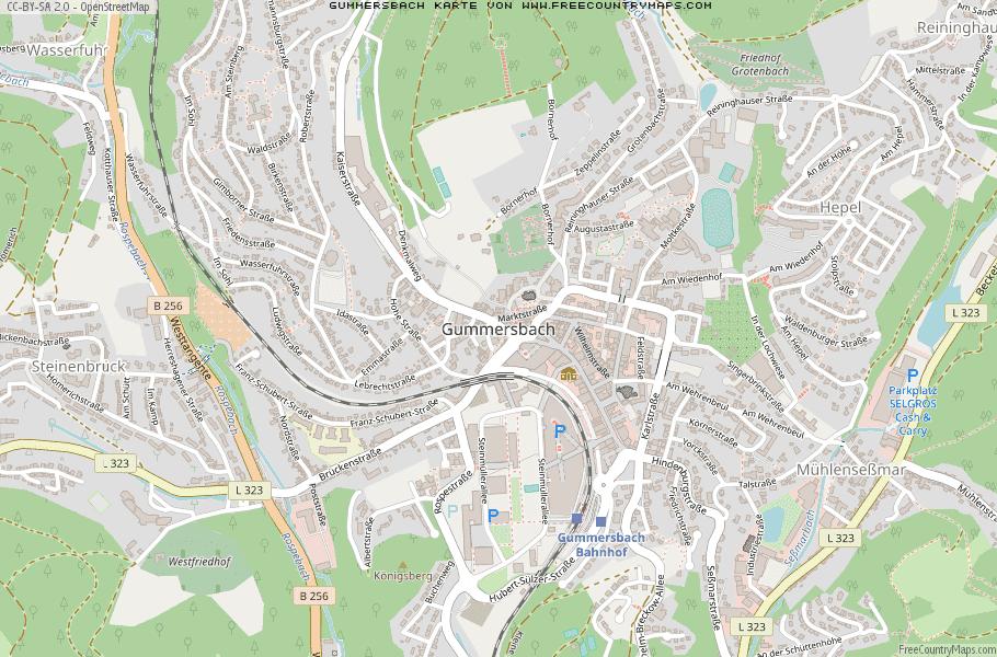 Karte Von Gummersbach Deutschland Breiten Und Langengrad