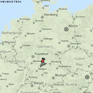 neuenstein deutschland karte Karte von Neuenstein :: Deutschland Breiten  und Längengrad