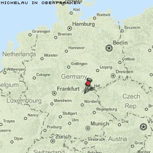 Oberfranken Karte.Karte Von Michelau In Oberfranken Deutschland Breiten Und