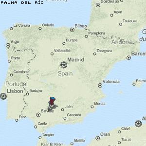 Karte von Palma del Río :: Spanien Breiten- und Längengrad ...