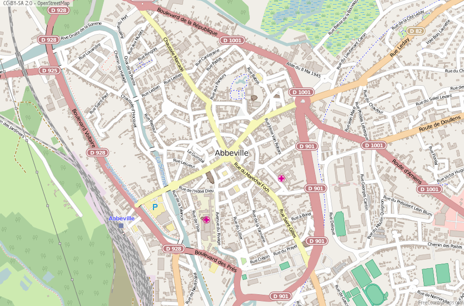 Abbeville France Map