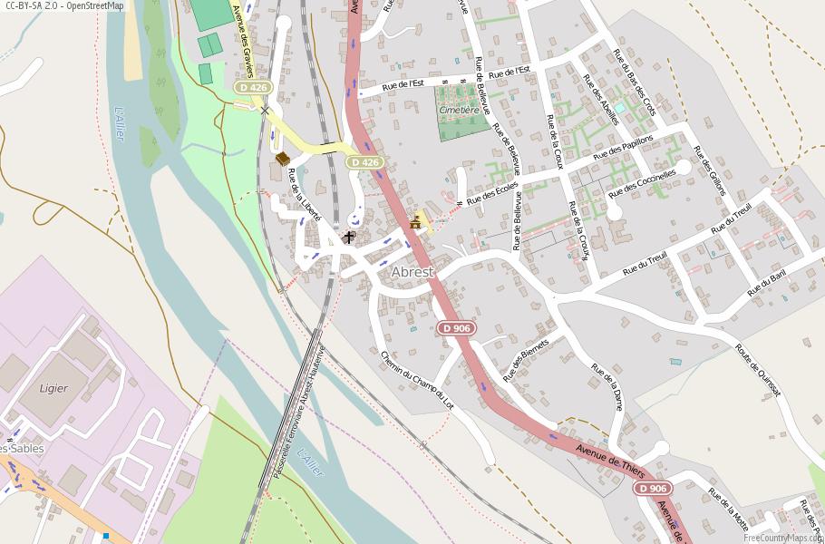Abrest France Map