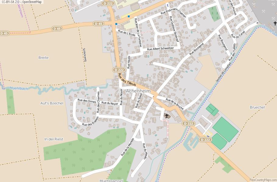 Achenheim France Map