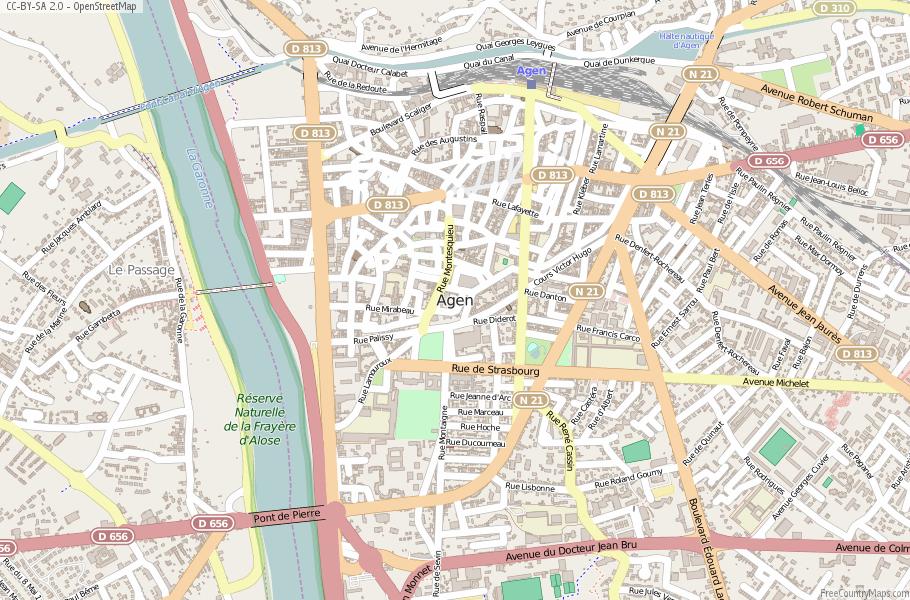 Agen Map France Latitude Longitude Free France Maps