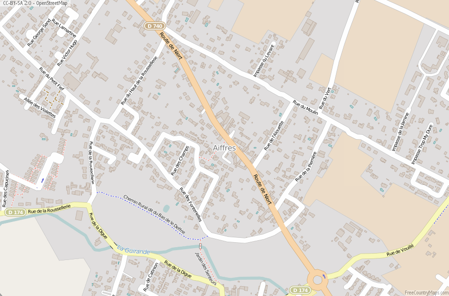 Aiffres France Map