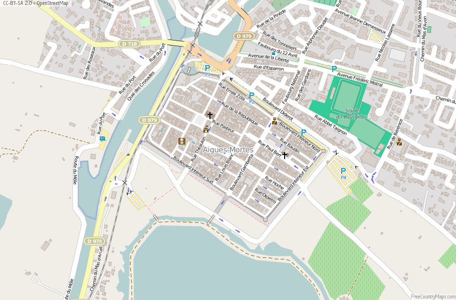 Aigues-Mortes France Map