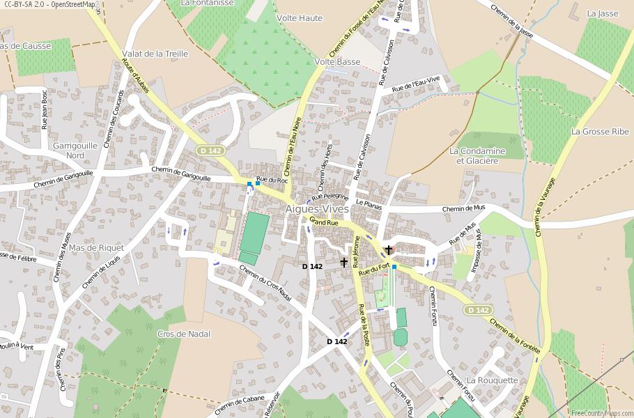 Aigues-Vives France Map