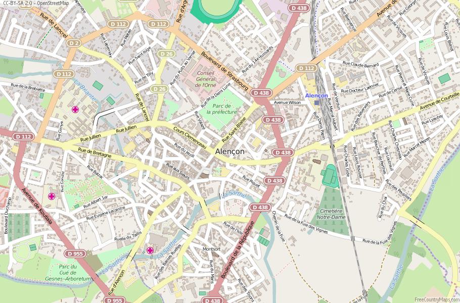 Alençon France Map