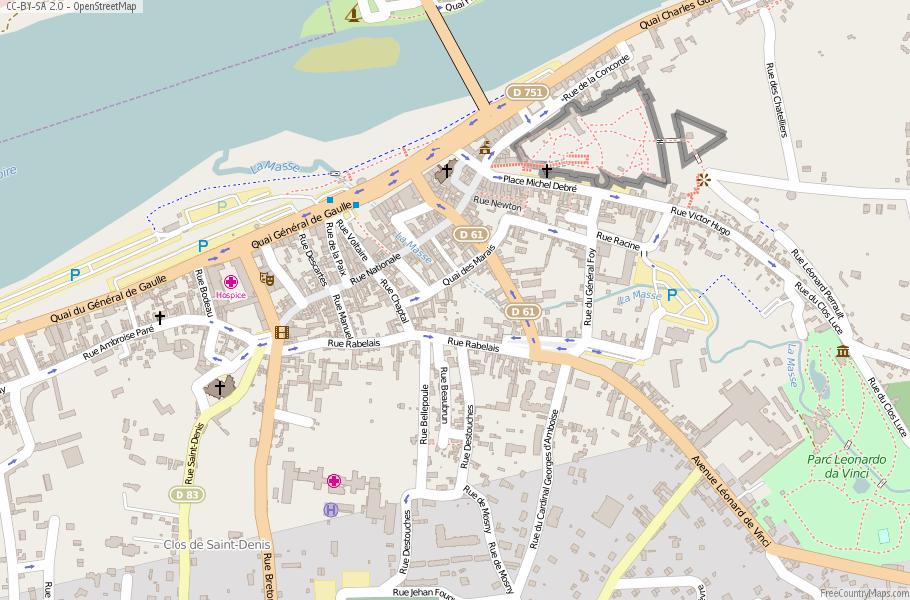 Amboise France Map.Amboise Map France Latitude Longitude Free Maps