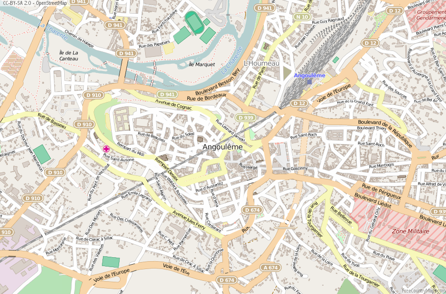 Angoulême France Map