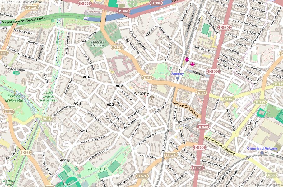 Antony France Map