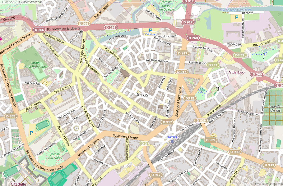 Arras France Map
