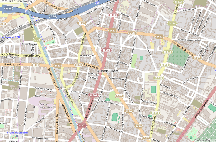 Aubervilliers France Map