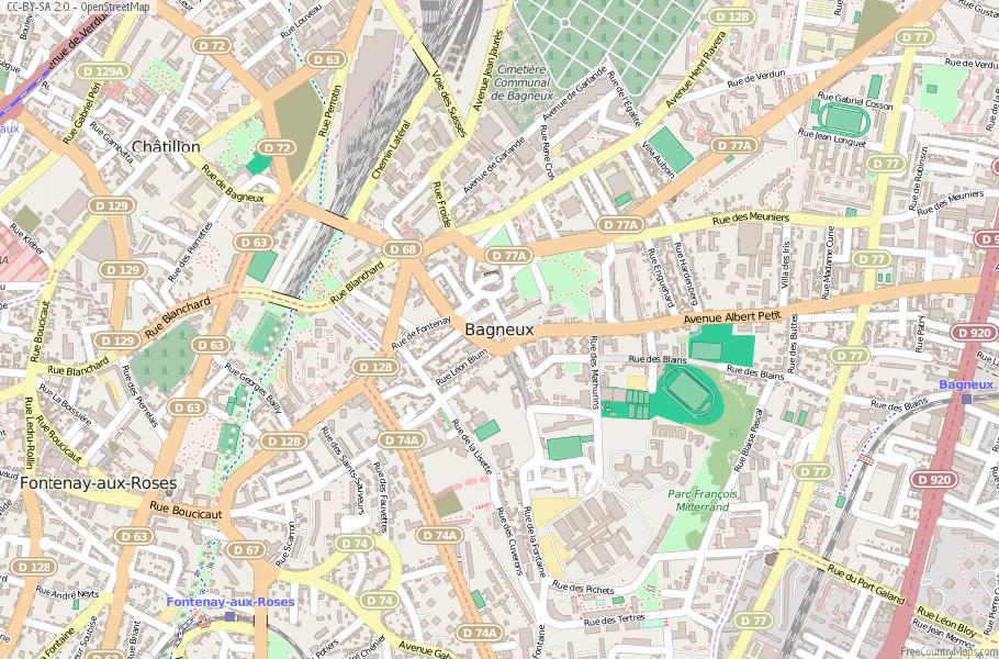 Bagneux France Map