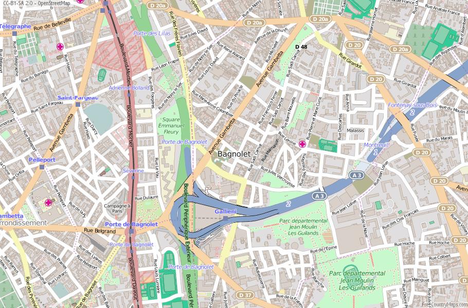 Bagnolet France Map