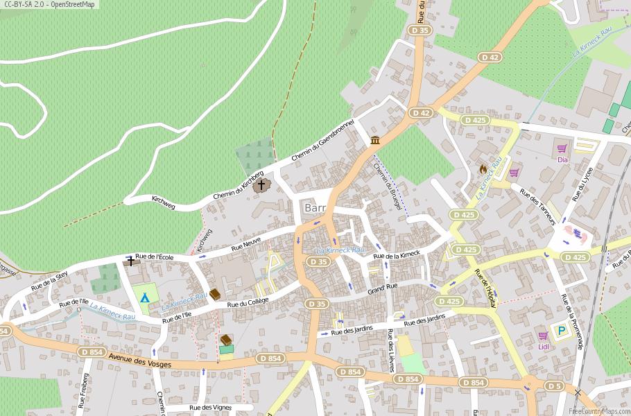 Barr Map France Latitude Longitude Free France Maps