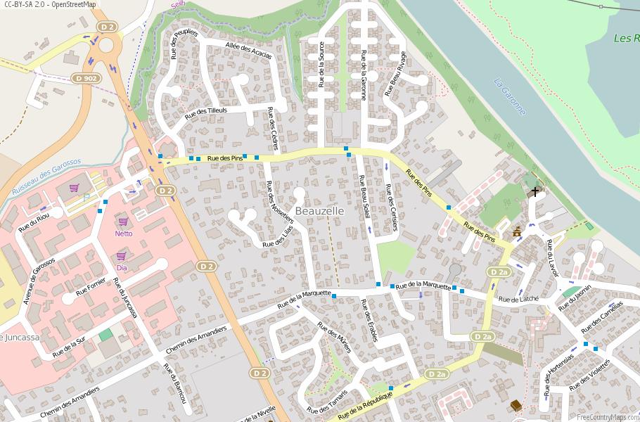 Beauzelle Map France Latitude Longitude Free Maps