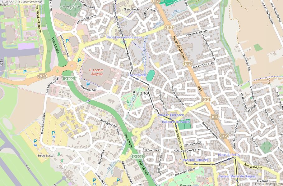 Blagnac France Map