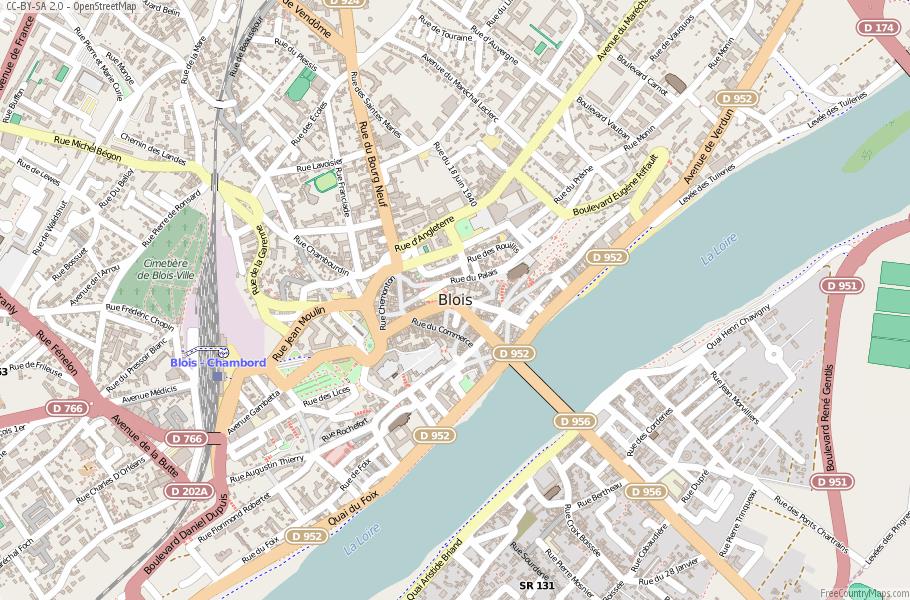 Blois Map France Latitude Longitude Free France Maps