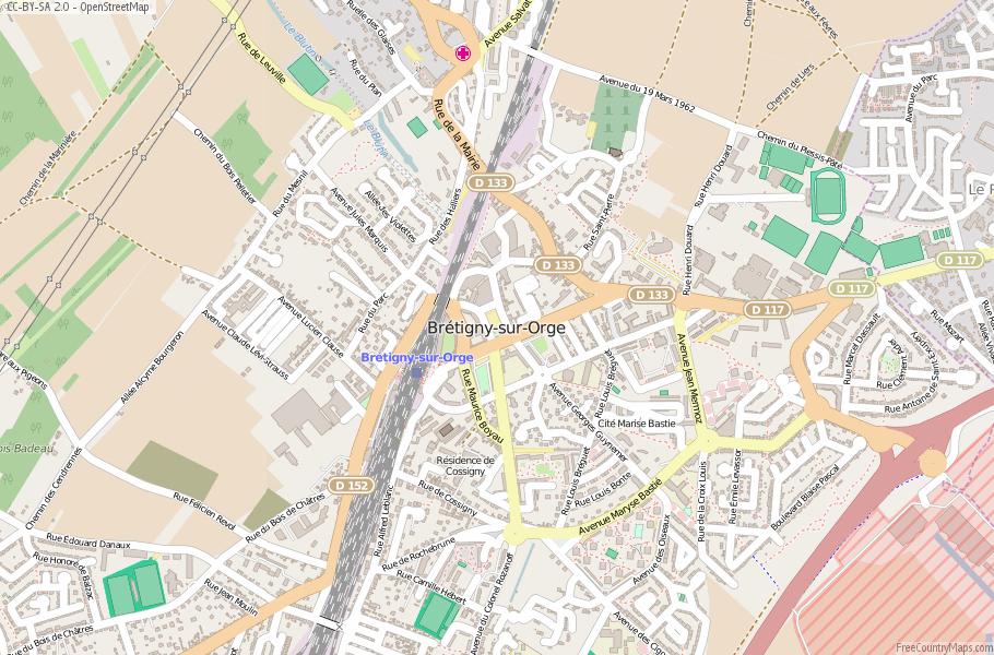 Brétigny-sur-Orge France Map