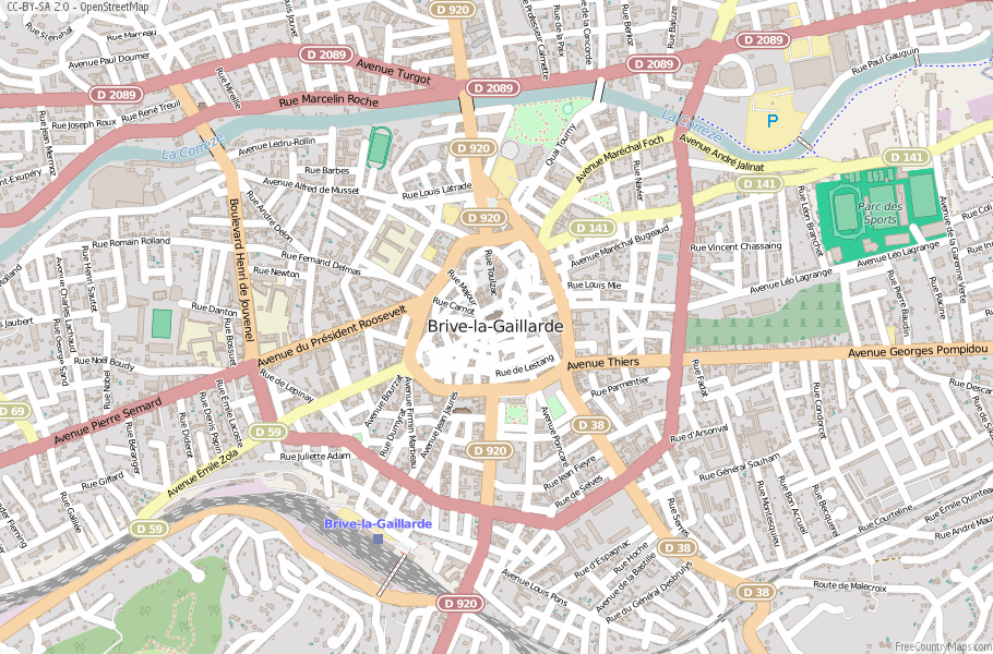 Brive France Map.Brive La Gaillarde Map France Latitude Longitude Free Maps