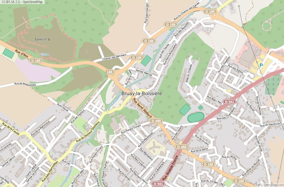 Bruay-la-Buissière France Map