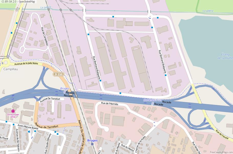 Bruges France Map.Bruges Map France Latitude Longitude Free Maps