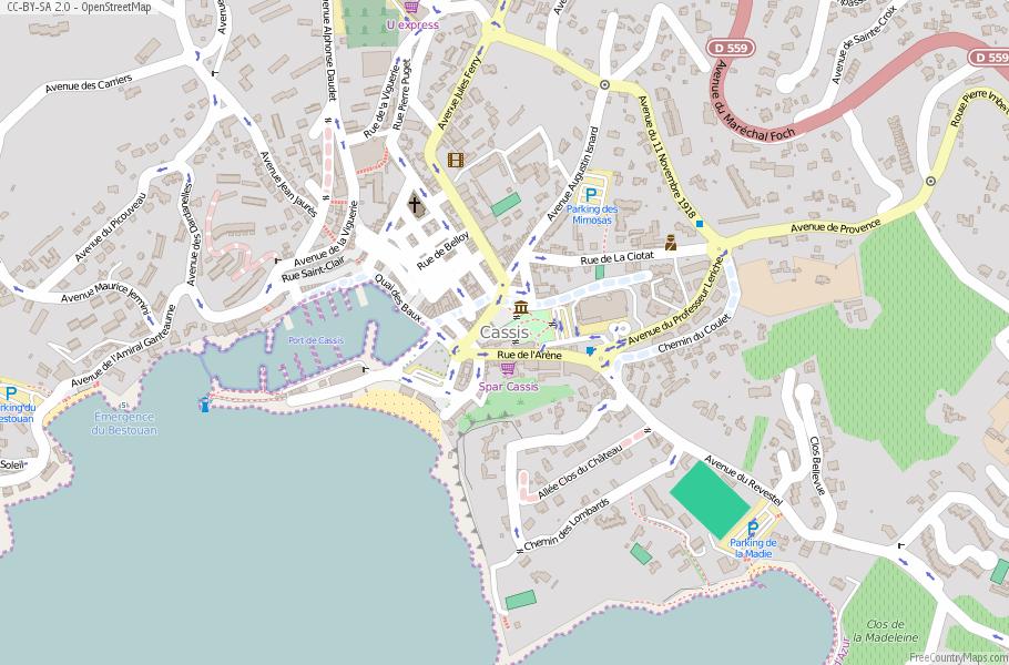 Cassis Map France Latitude Longitude Free Maps