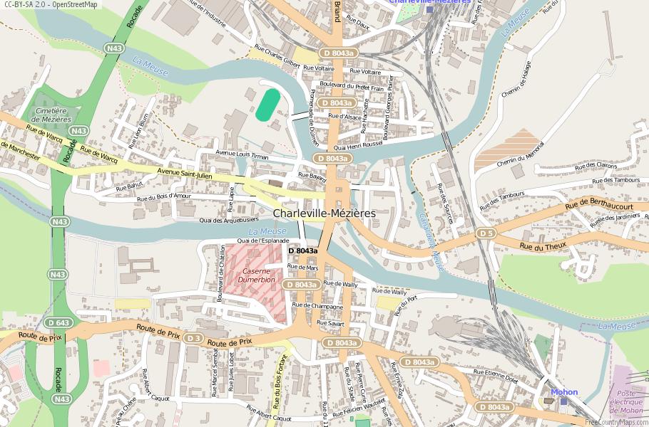 Charleville-Mézières France Map