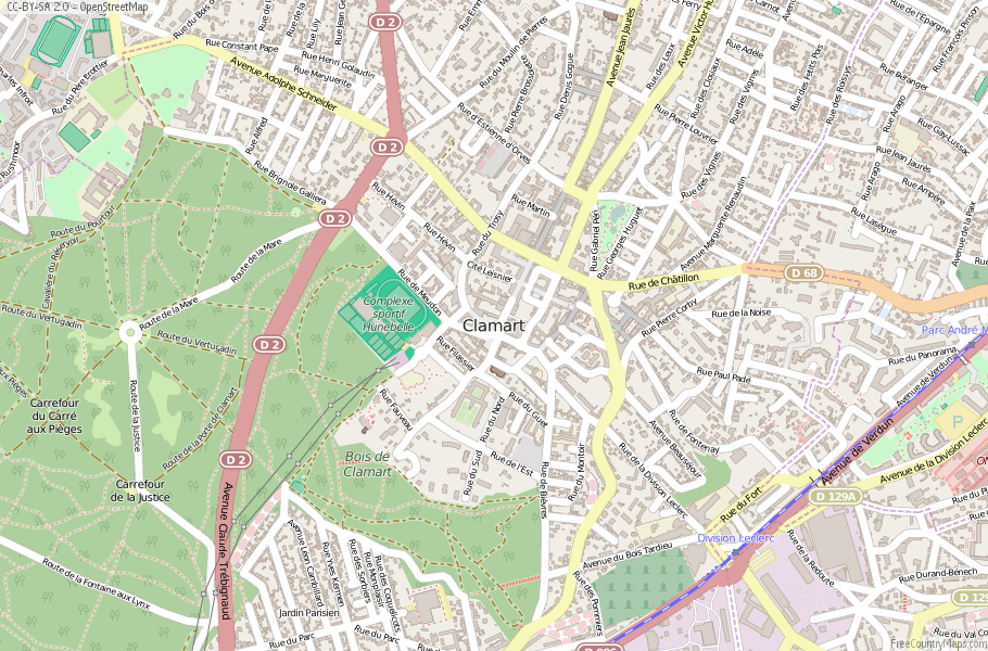 Clamart France Map