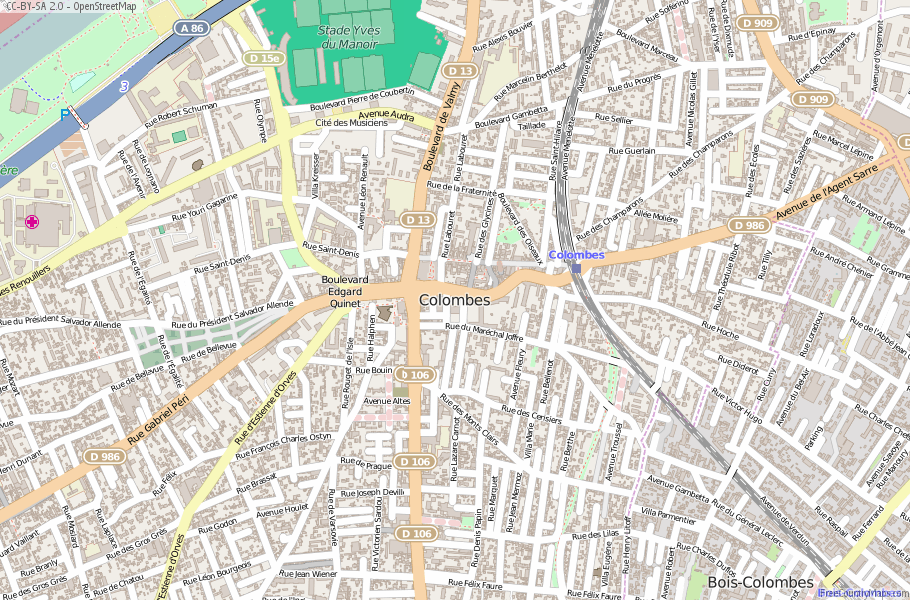 Colombes France Map