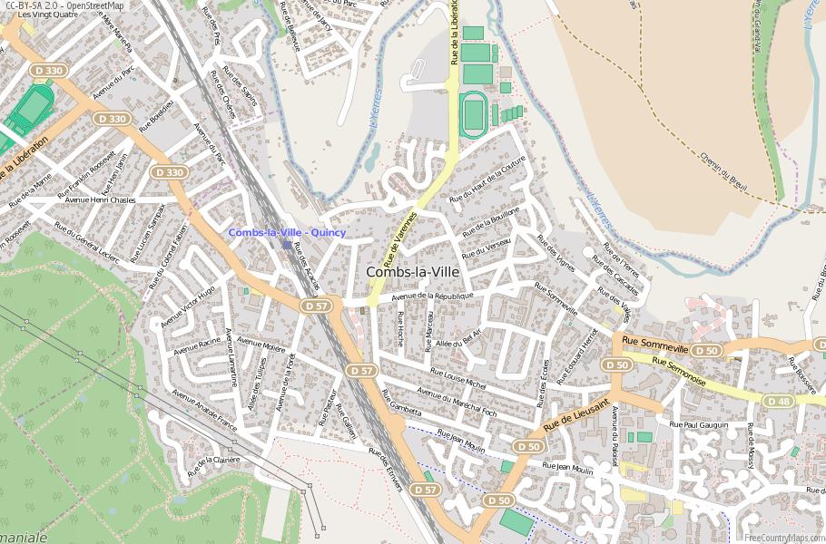 Combs-la-Ville France Map