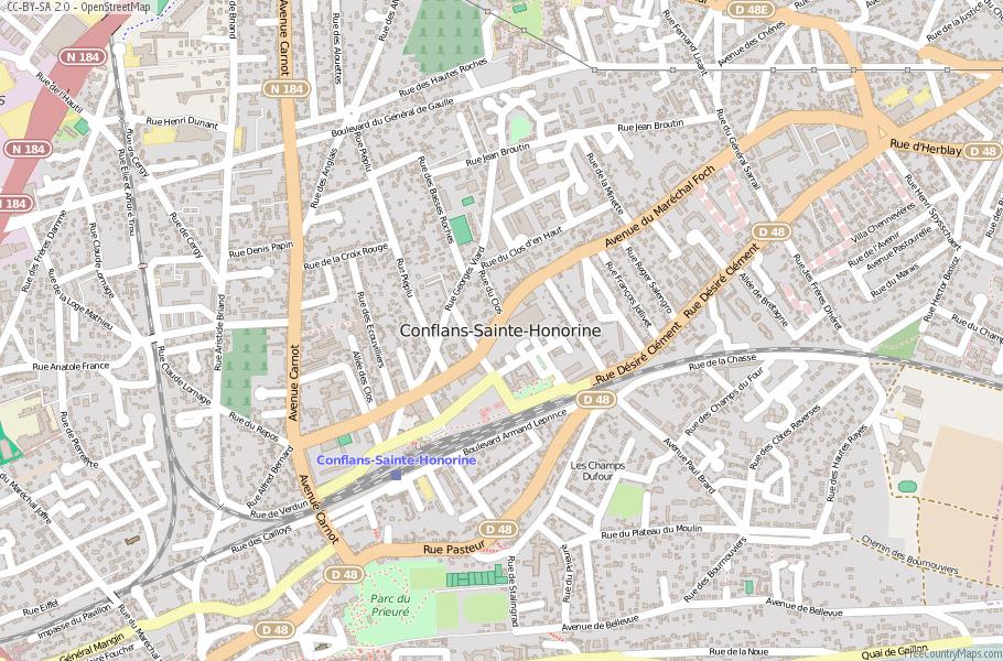Conflans-Sainte-Honorine France Map