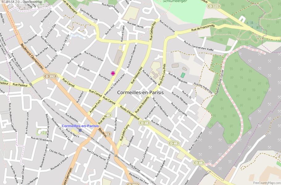 Cormeilles-en-Parisis France Map