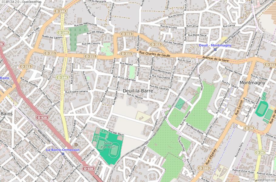 Deuil-la-Barre France Map
