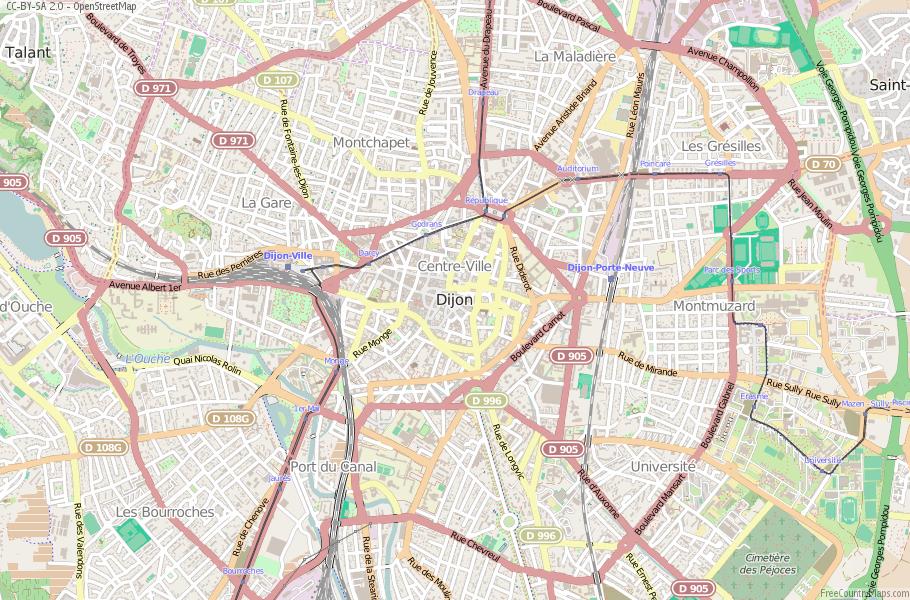 Dijon France Map
