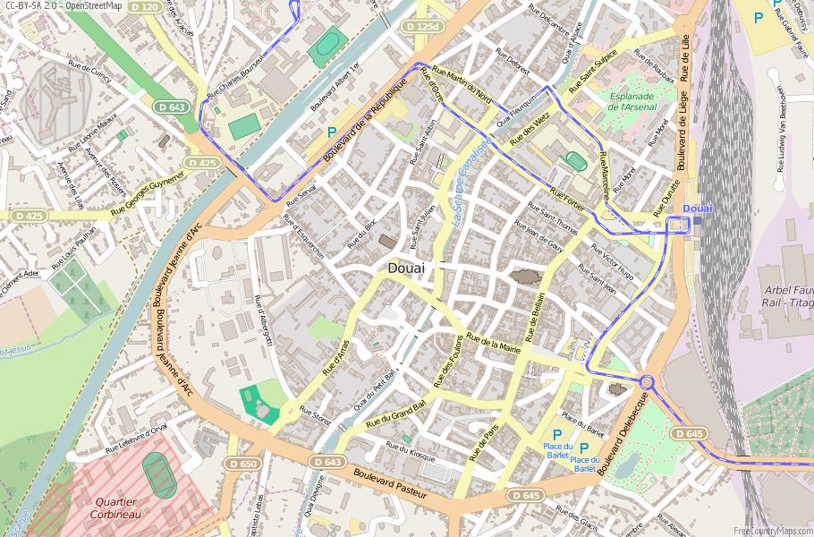 Douai France Map