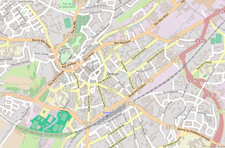Dreux France Map