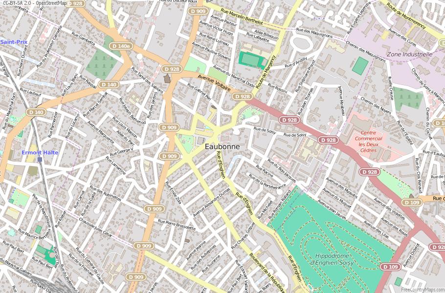 Eaubonne France Map