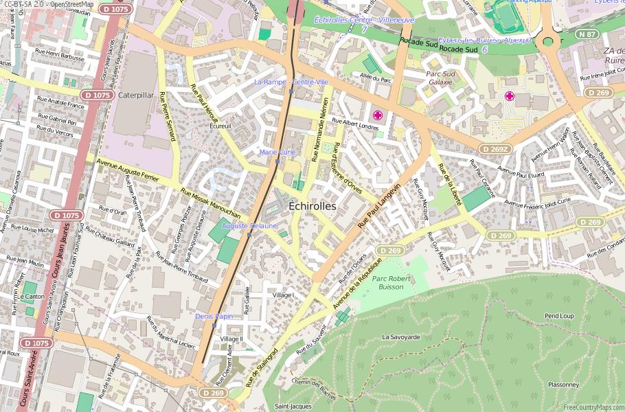 Échirolles France Map