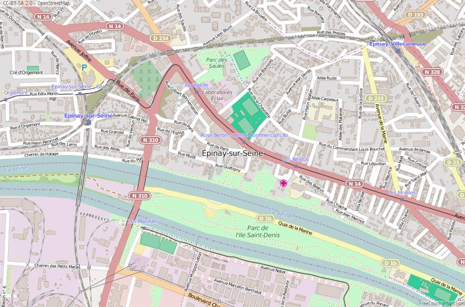 Épinay-sur-Seine France Map