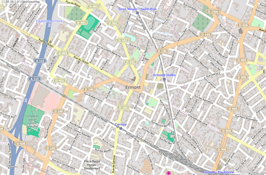 Ermont France Map