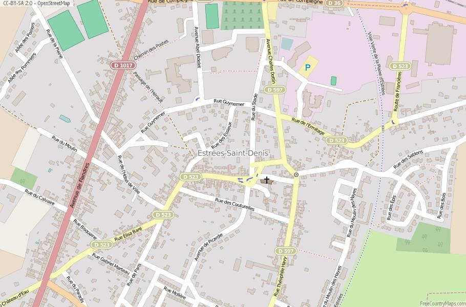 Saint Denis France Map.Estrees Saint Denis Map France Latitude Longitude Free Maps