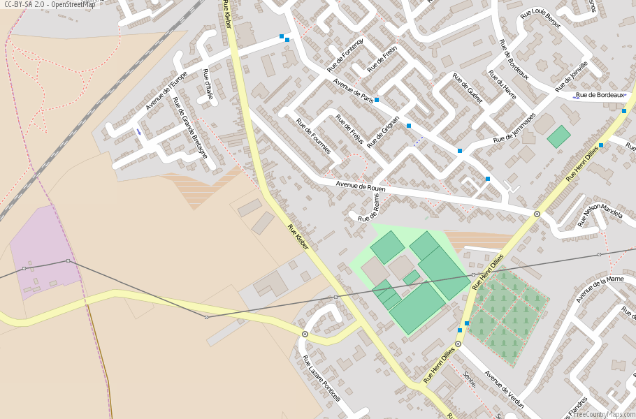 Faches-Thumesnil France Map