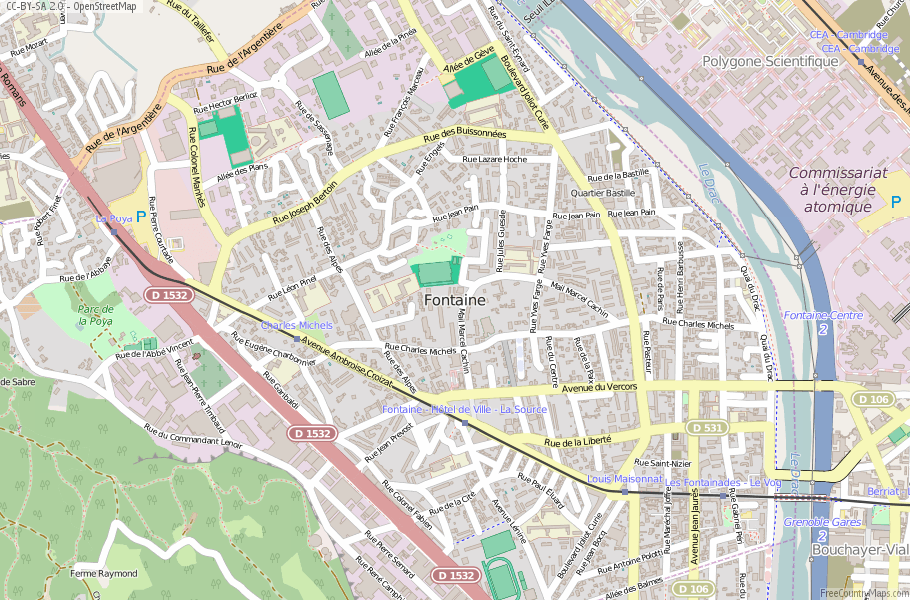 Fontaine France Map