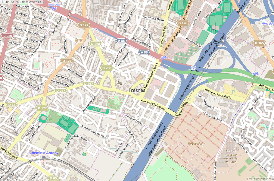 Fresnes France Map